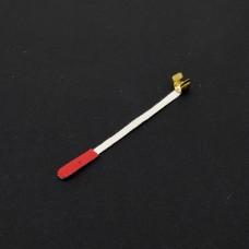 Trekbandje rood met clip per stuk